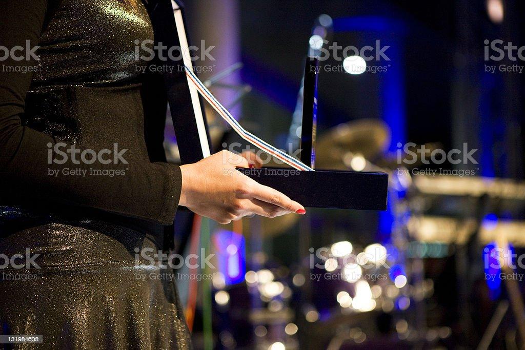 Giving Award stock photo