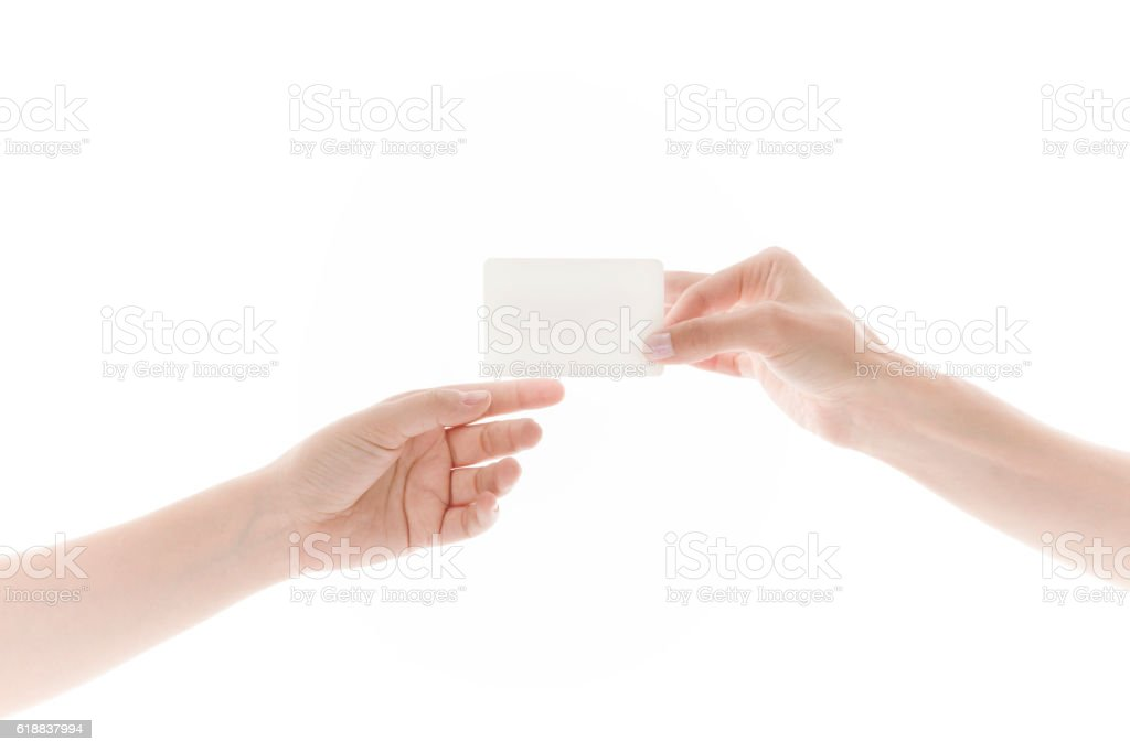 Giving Blank Business Card Stock Photo & More Pictures of Adult | iStock
