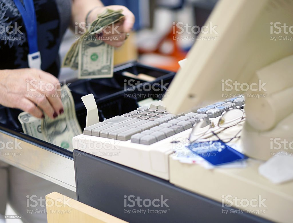 Giving change royalty-free stock photo