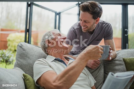 istock Giving Dad A Well Deserved Cuppa 840849424