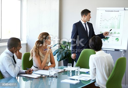 istock Giving feedback on their quarterly results 508545111