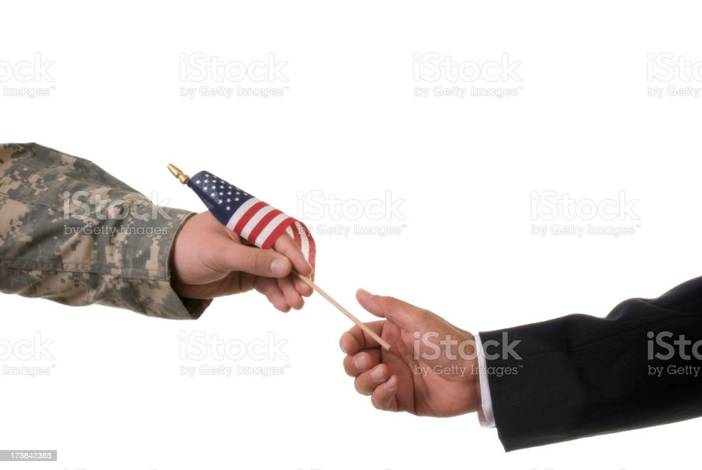 Giving Flag royalty-free stock photo