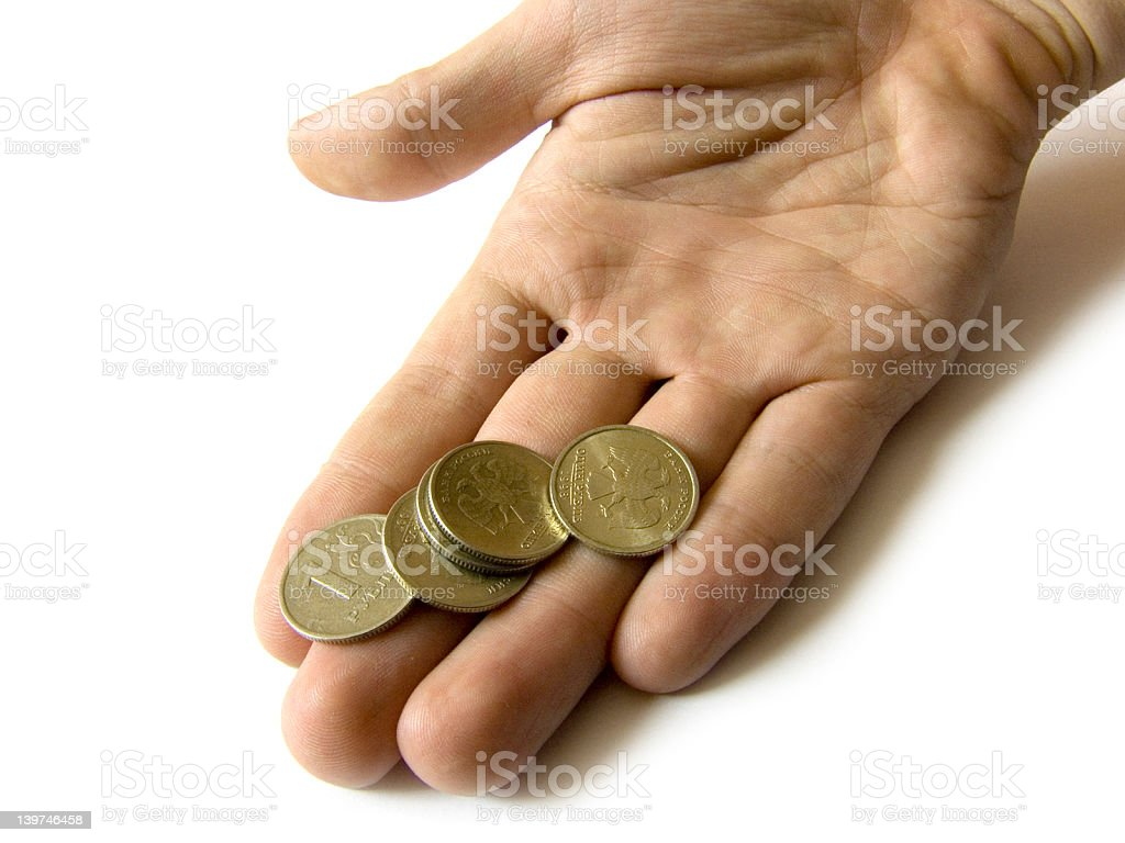 Giving hand royalty-free stock photo