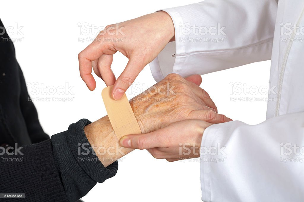 Giving help stock photo