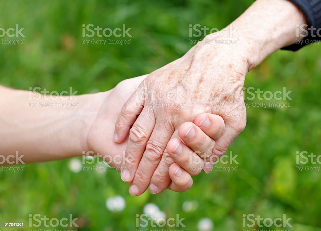 Giving help stock photo