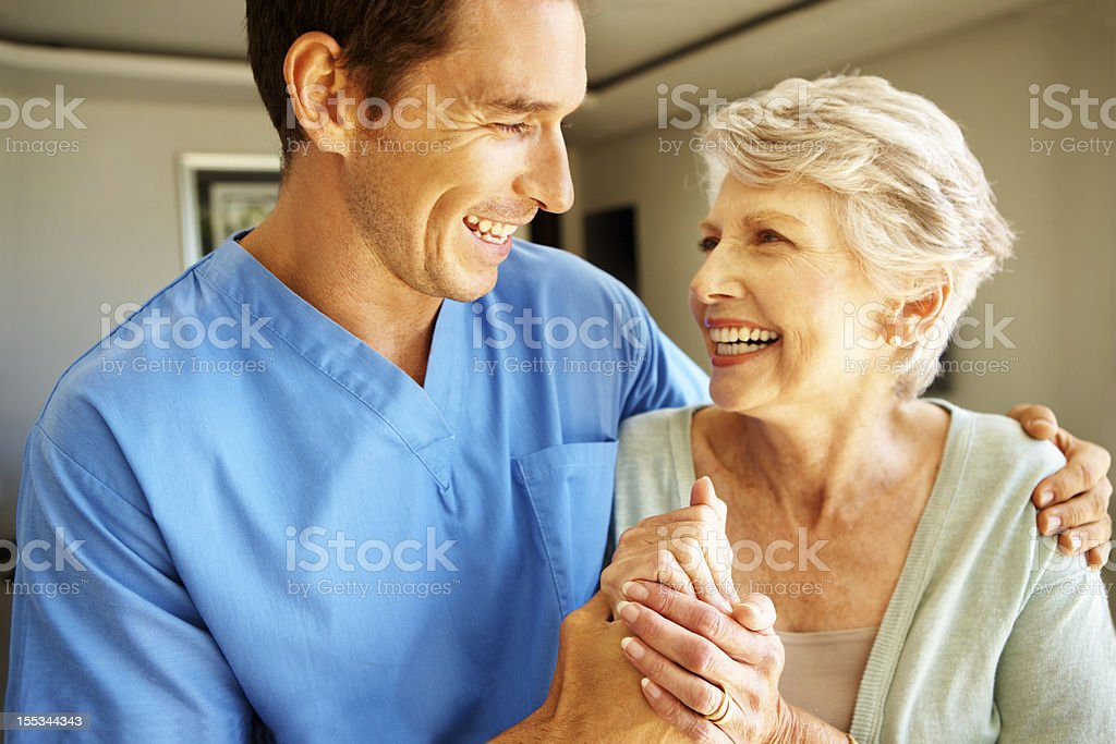 Giving her the motivation she needs! stock photo
