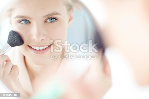 istock Giving herself rosy cheeks 465353101