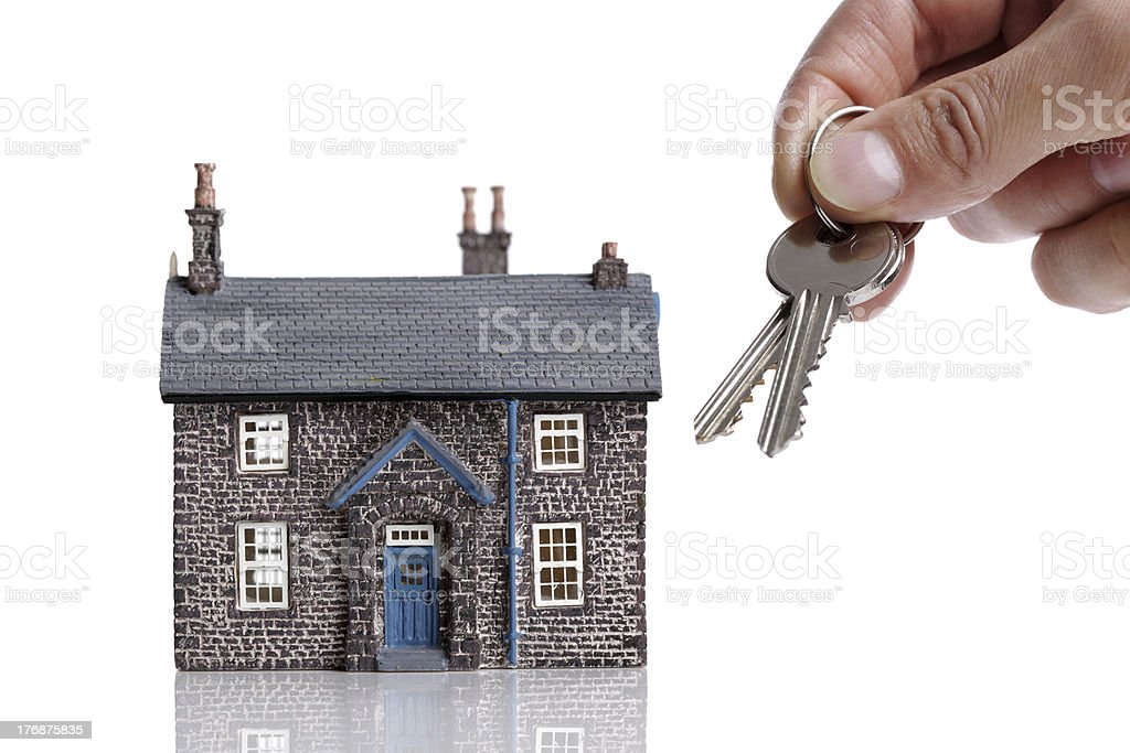 Giving house keys royalty-free stock photo