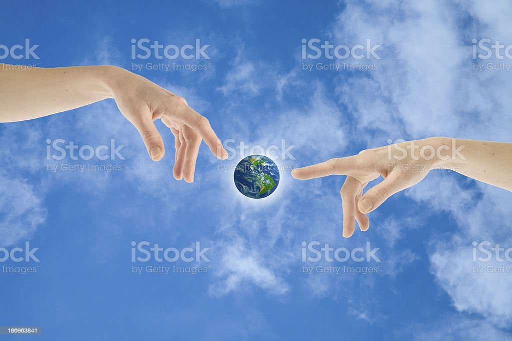 Giving live to Earth royalty-free stock photo