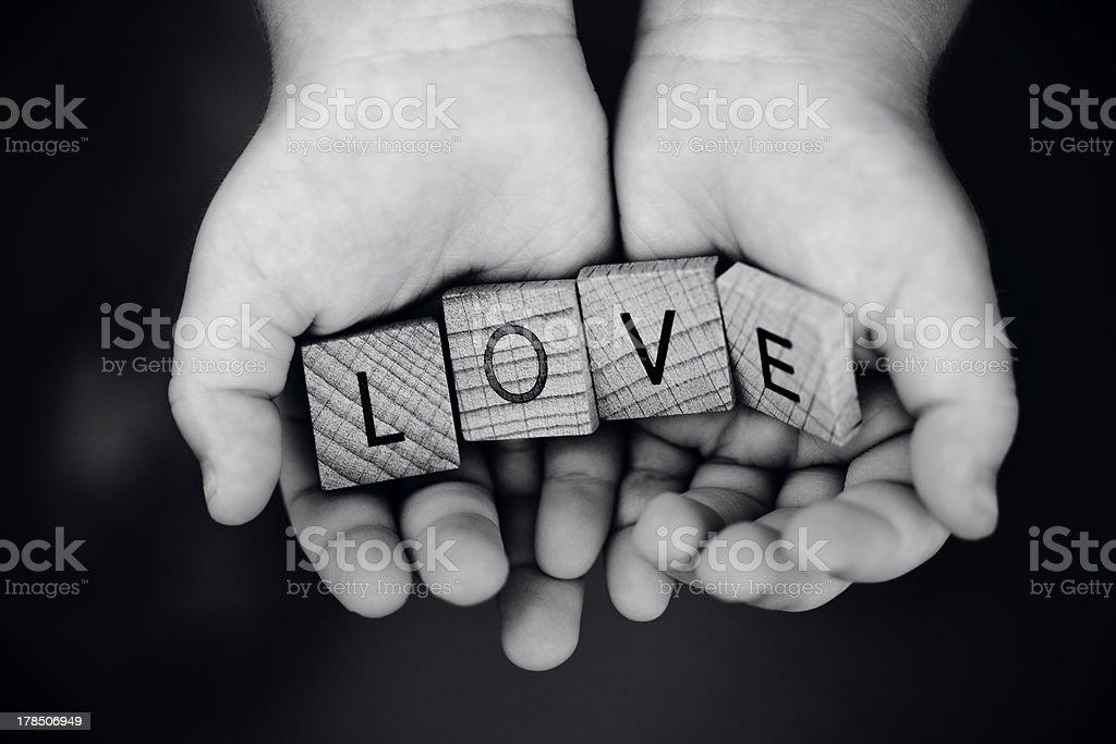 Giving Love stock photo