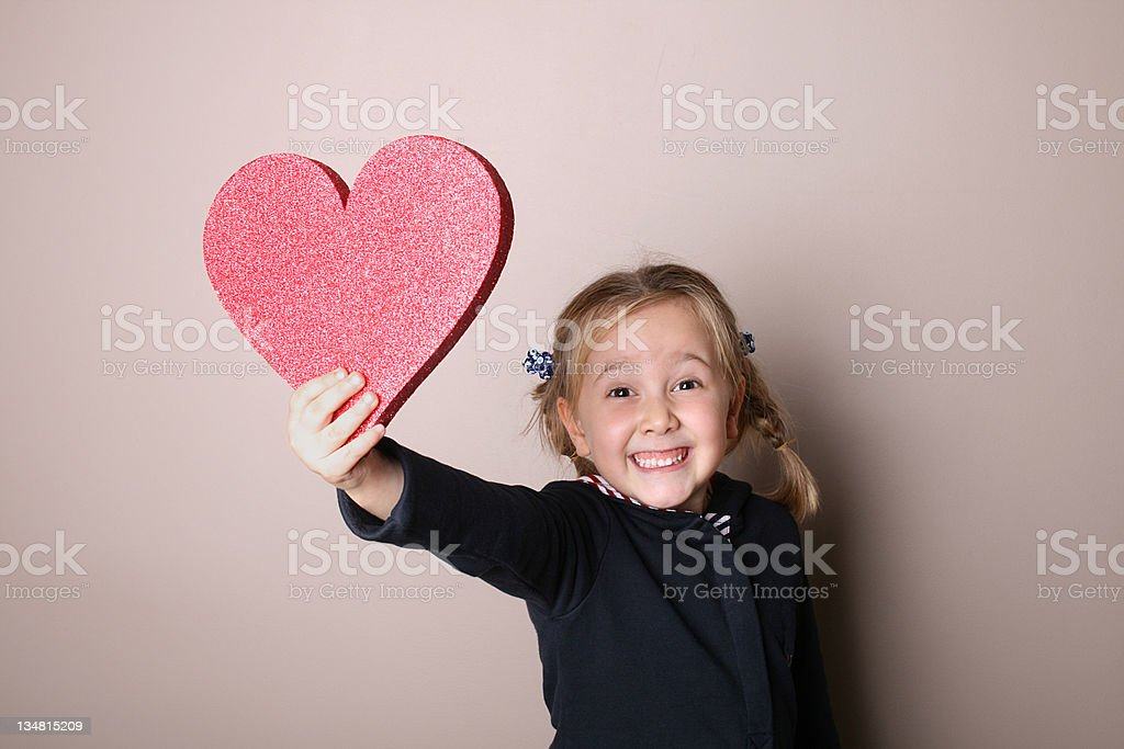 Giving My Heart royalty-free stock photo