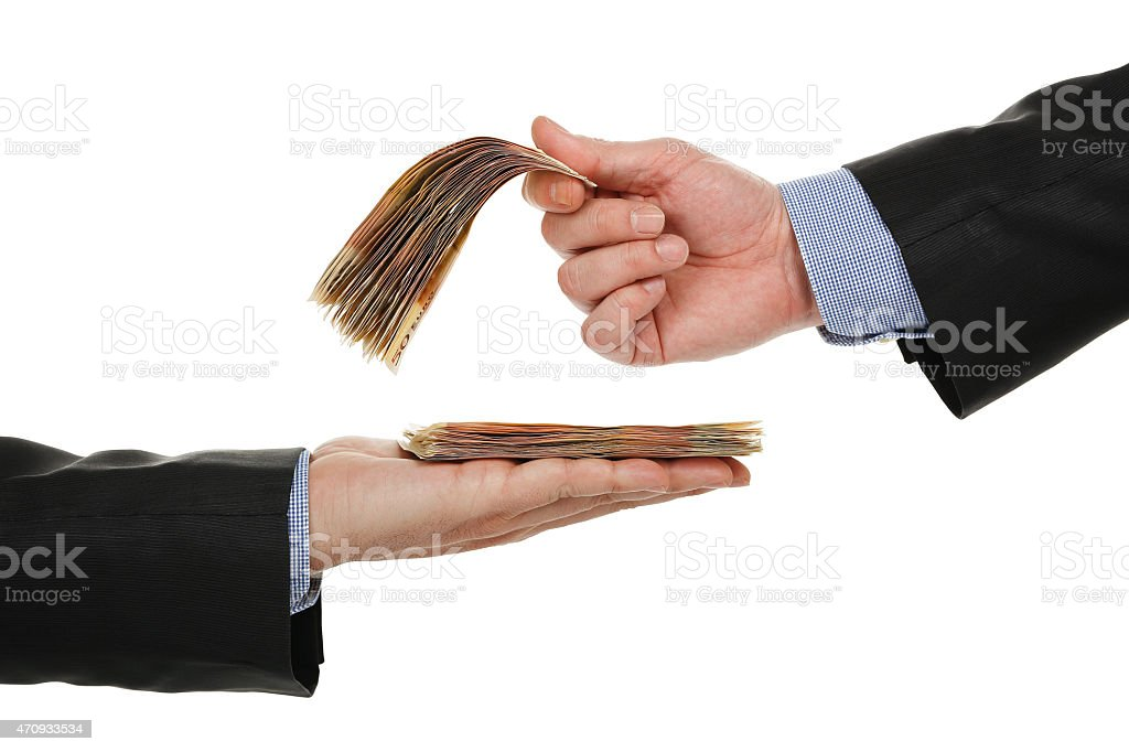 giving or taking money stock photo