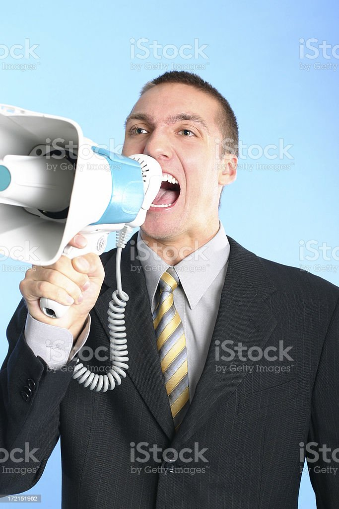 Giving orders royalty-free stock photo