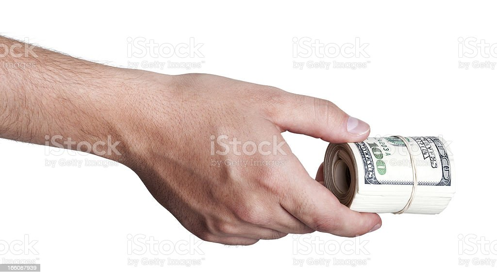 Giving Out Cash stock photo