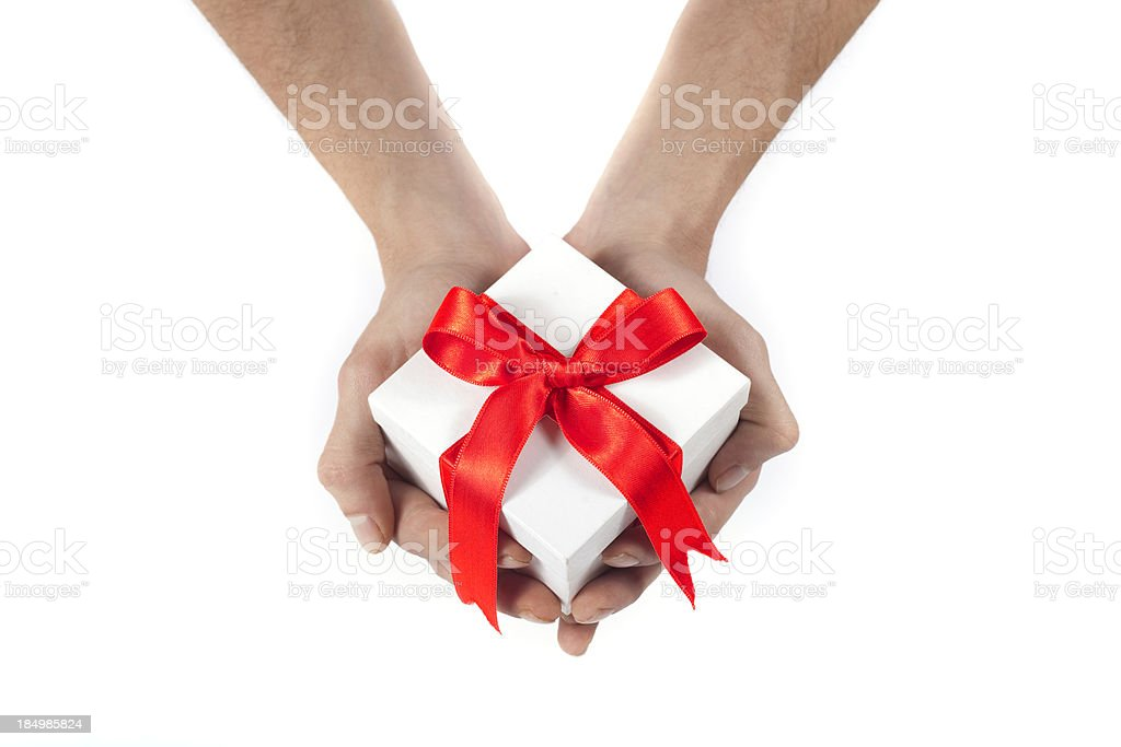 giving present royalty-free stock photo