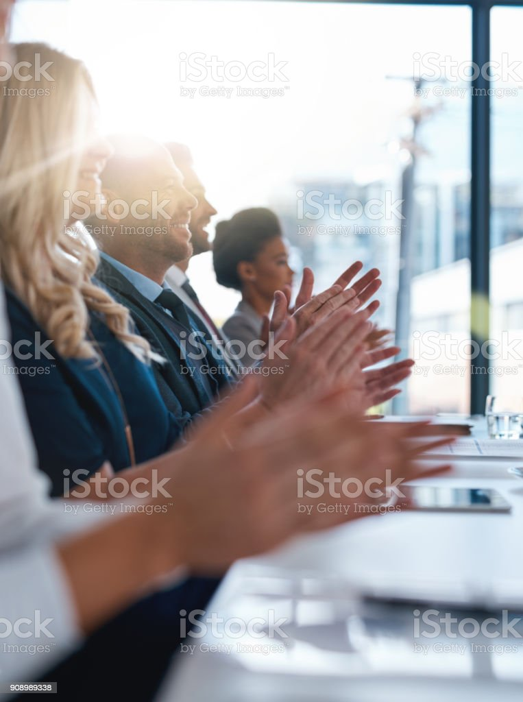 Giving recognition where recognition is due stock photo
