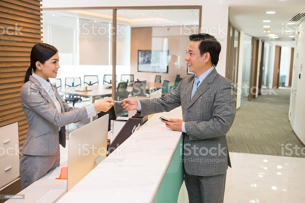 Giving smart card stock photo