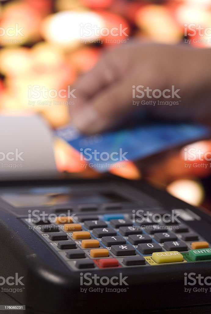 giving the credit card royalty-free stock photo
