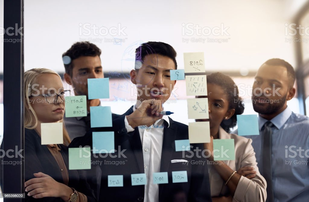 Giving their input royalty-free stock photo