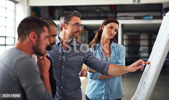 istock Giving them a clearer picture of his vision 503418956