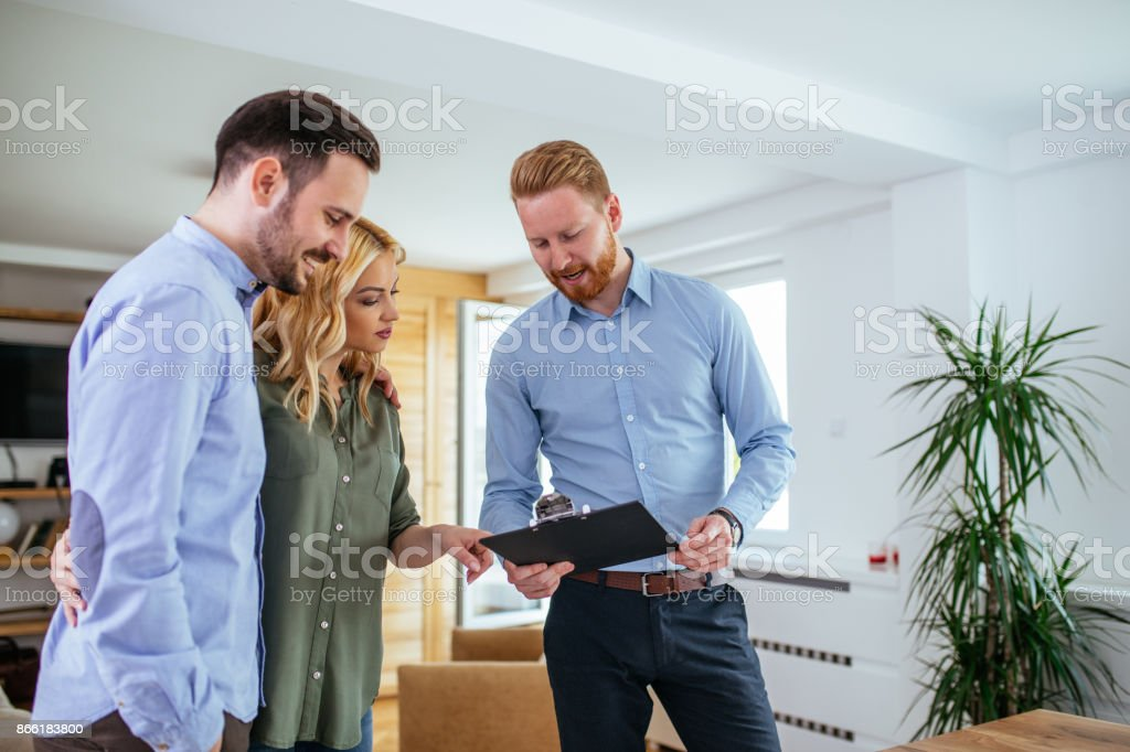 Giving them great financial advice stock photo