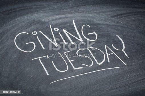 istock Giving Tuesday blackboard sign 1060156766