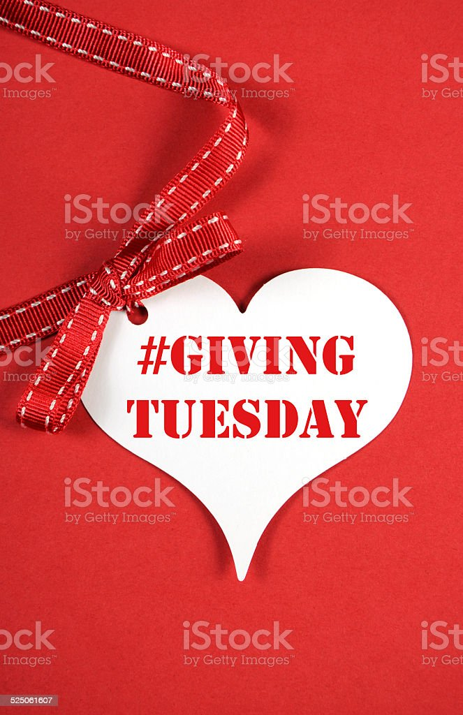 Giving Tuesday heart stock photo