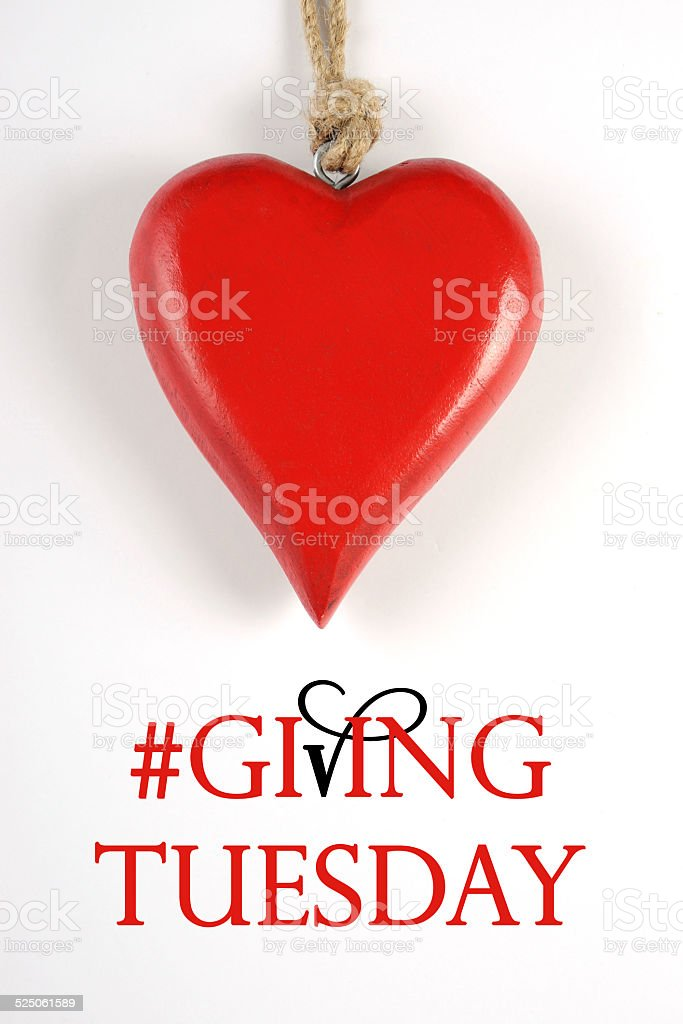 Giving Tuesday philanthropy day stock photo