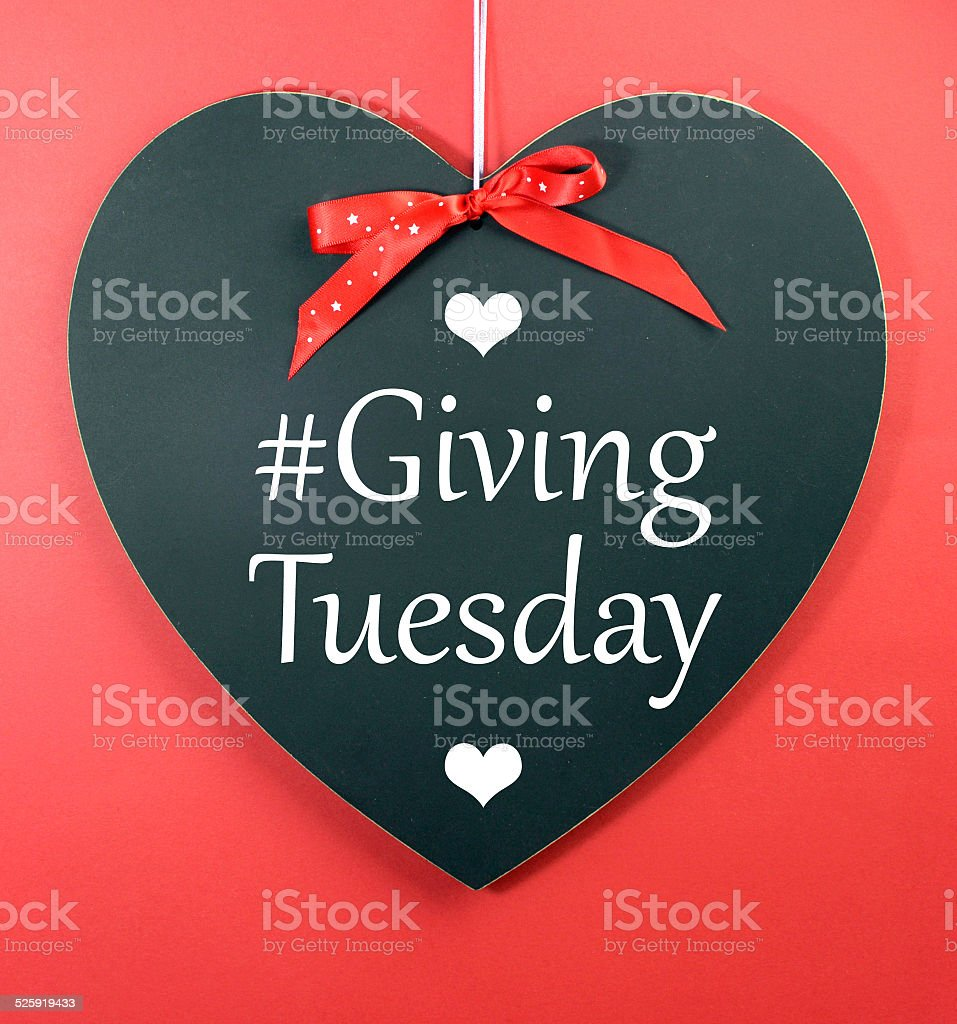 Giving Tuesday stock photo