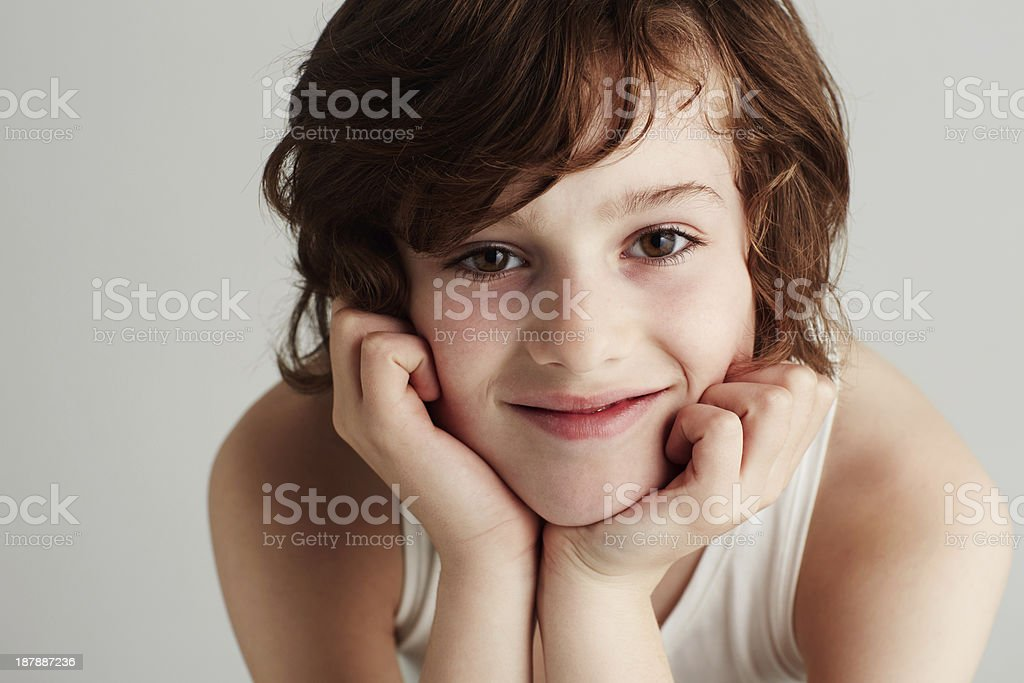 Giving you a carefree smie stock photo
