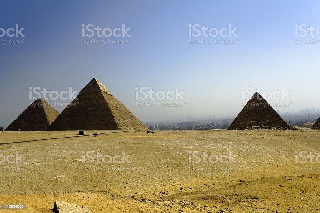 Giza, early morning royalty-free stock photo