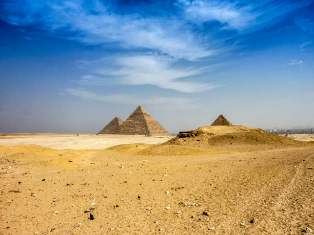 Giza Plateau stock photo
