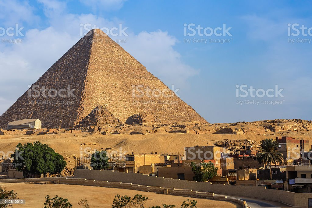 Giza Pyramid Cheops stock photo