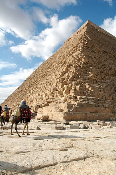 Giza Pyramids Egypt stock photo