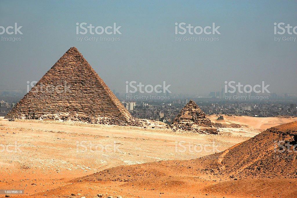 Giza Pyramids in Cairo royalty-free stock photo