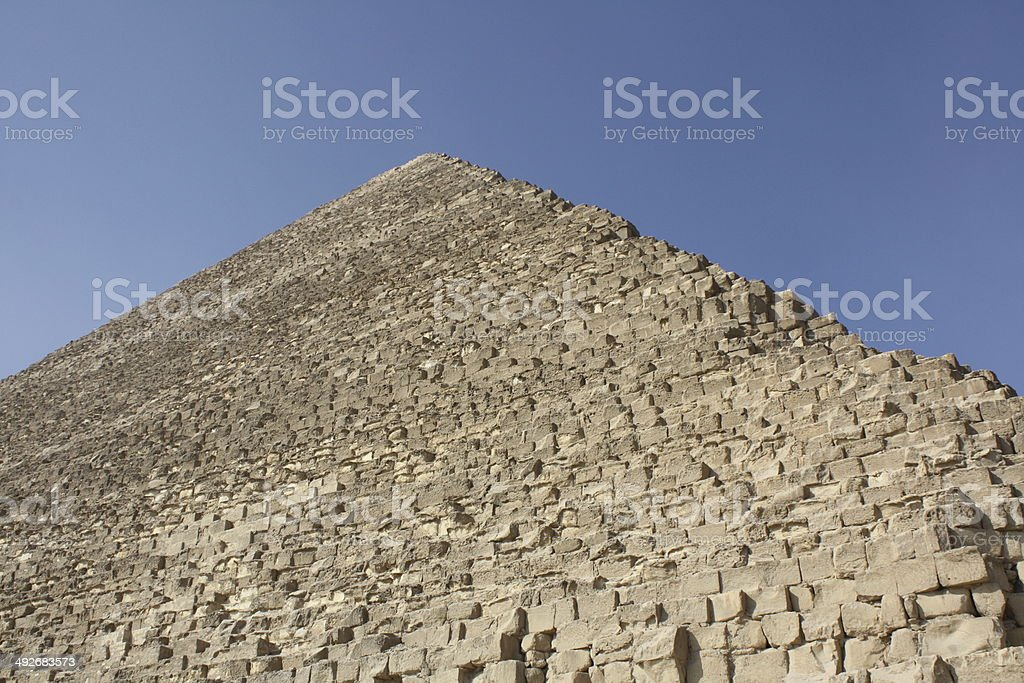 Giza Pyramids on a summers day in Cairo, Egypt royalty-free stock photo