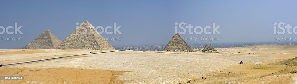 Giza Pyramids royalty-free stock photo