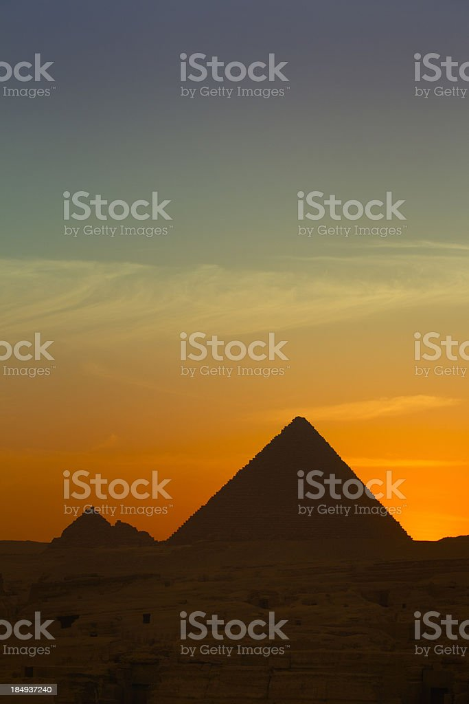 Gizeh in early evening sun royalty-free stock photo