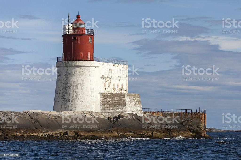 Gjeslingene. Norwegian Lighthouse royalty-free stock photo