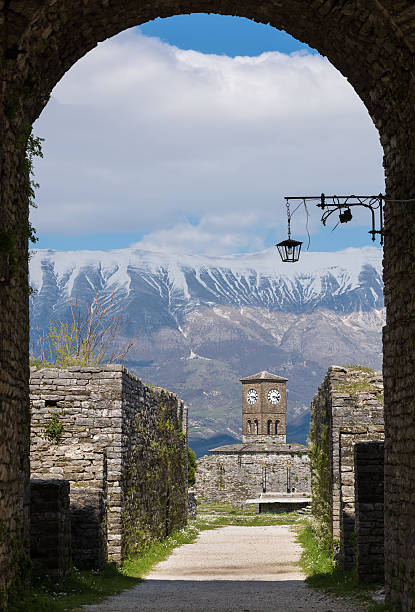 Gjirokaster Castle, Albania stock photo