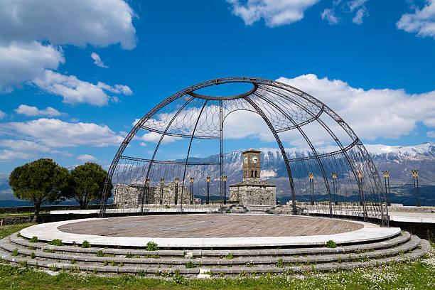Gjirokaster Castle, Albania stock photo