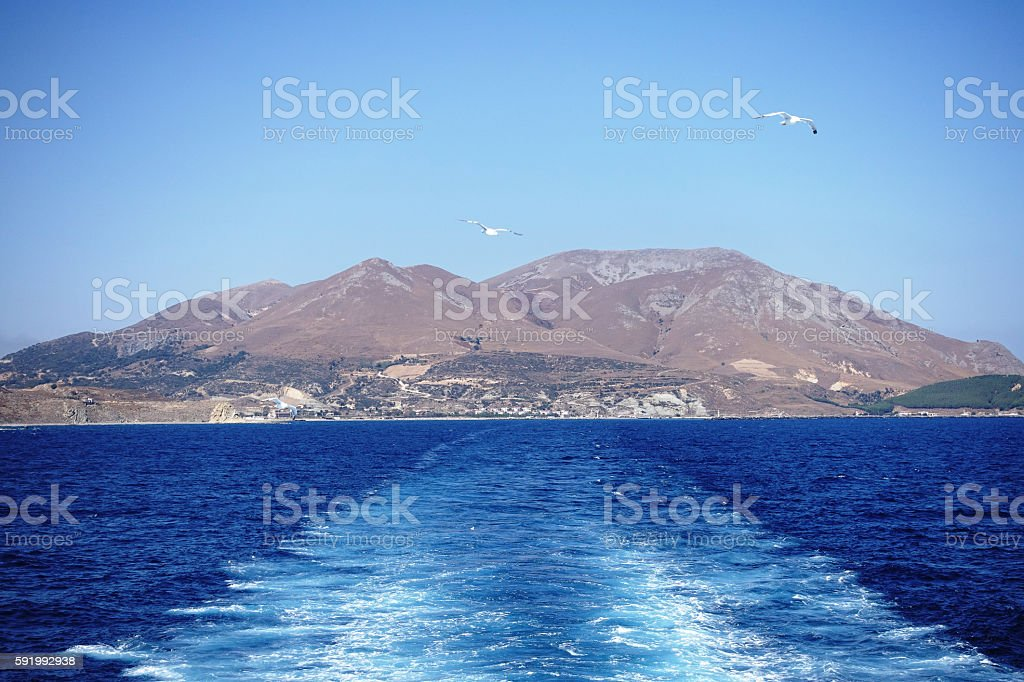 Gökceada island in Turkey stock photo