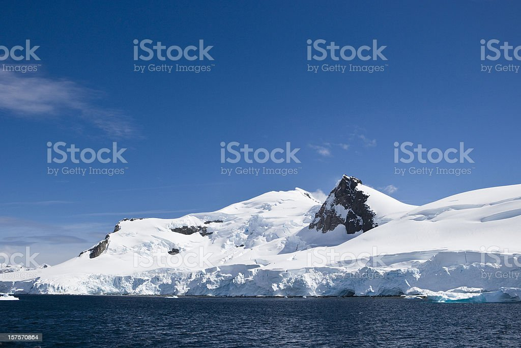 Glacial Blue Antarctica royalty-free stock photo