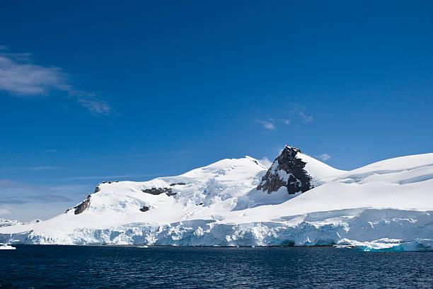 Glacial Blue Antarctica stock photo