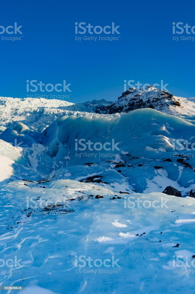 Glacial Ice bowl in iceland stock photo