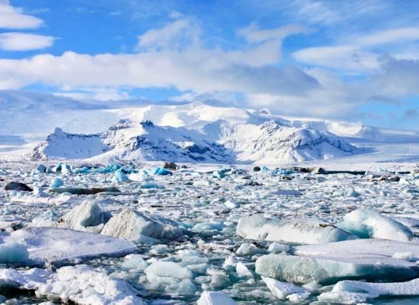 Glacial Lagoon stock photo