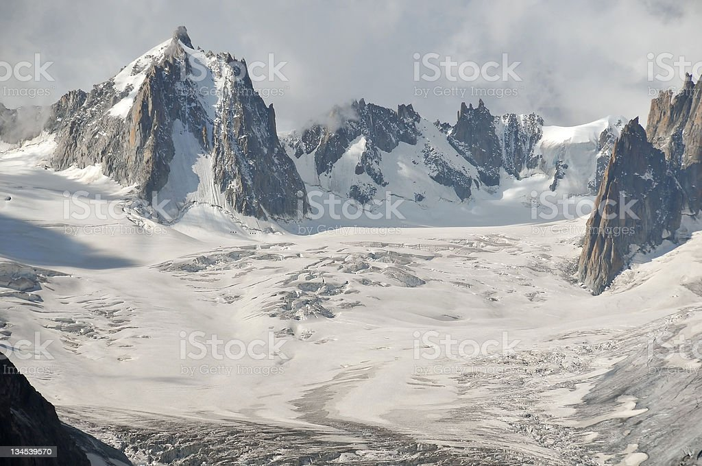 Glacial landscape stock photo