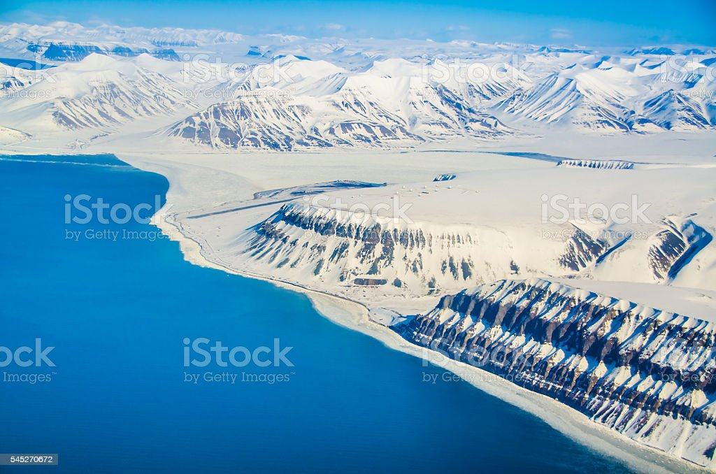 Glacial landscapes, Spitsbergen, Svalbard, Norway stock photo