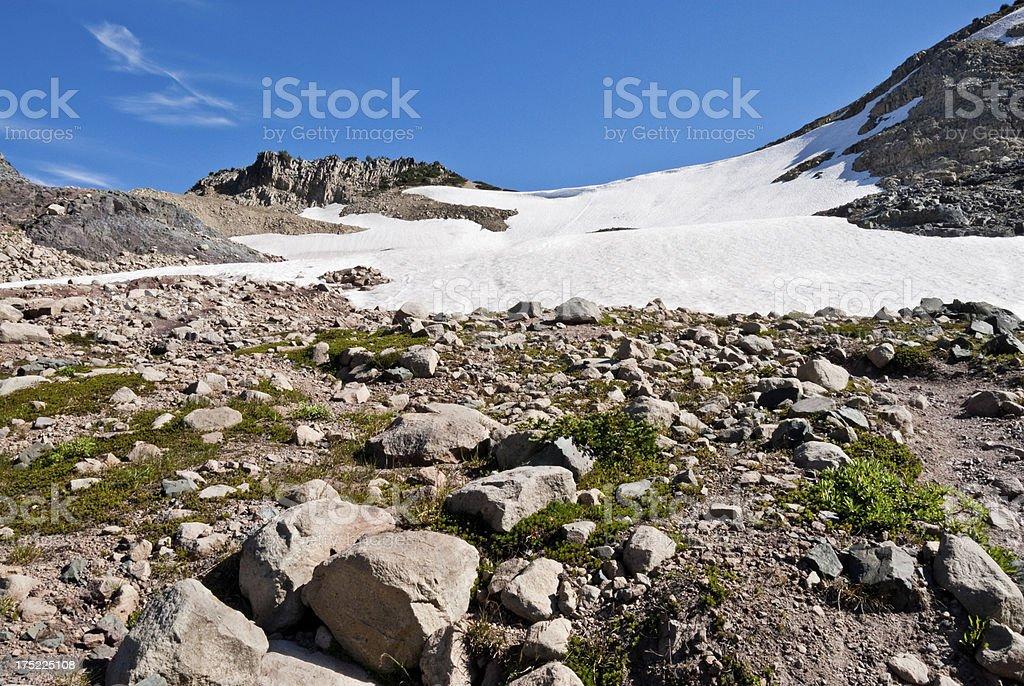 Glacial Moraine near Panhandle Gap stock photo
