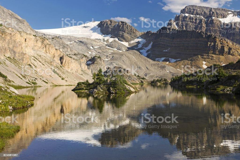 Glacial Rocky Mountain Lake stock photo